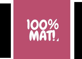 100% mat